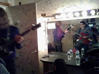 Backstage at the Ark
